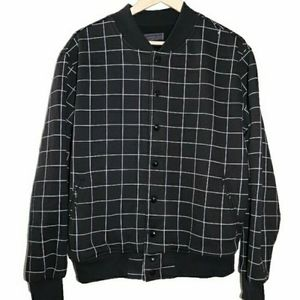 American Apparel Checkered Bomber Jacket
